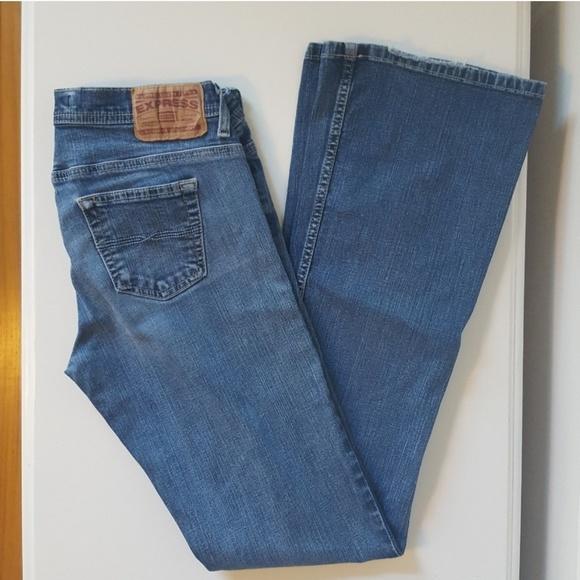 Express Denim - EXPRESS   Flare Cetine Jeans   Sz 8L